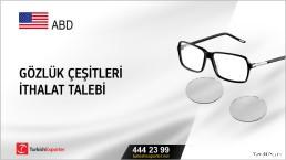 ABD, Gözlük çeşitleri ithalat talebi