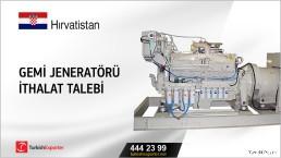Hırvatistan, Gemi jeneratörü ithalat talebi