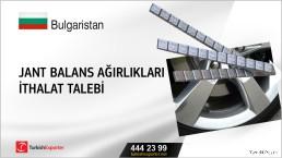 Bulgaristan, Jant balans ağırlıkları ithalat talebi