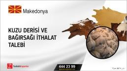 Makedonya, Kuzu derisi ve bağırsağı ithalat talebi