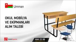 Umman, Okul mobilya ve ekipmanları alım talebi