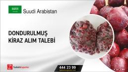 Suudi Arabistan, Dondurulmuş kiraz alım talebi