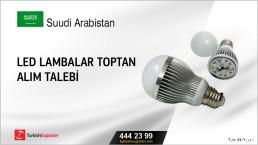 Suudi Arabistan, LED lambalar toptan alım talebi