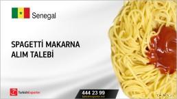 Senegal, Spagetti makarna alım talebi