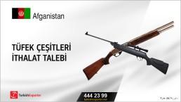 Afganistan, Tüfek çeşitleri ithalat talebi
