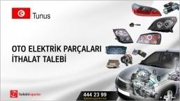 Tunus, Oto elektrik parçaları ithalat talebi