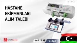 Libya, Hastane ekipmanları alım talebi