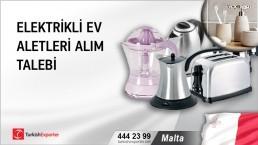 Malta, Elektrikli ev aletleri talebi