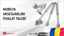 Romanya, Mobilya aksesuarları ithalat talebi