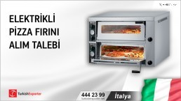 İtalya, Elektrikli pizza fırını alım talebi
