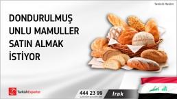 Irak, Dondurulmuş unlu mamuller satın almak istiyor