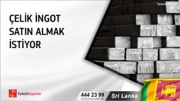 Sri Lanka, Çelik ingot satın almak istiyor