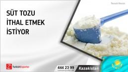 Kazakistan, Süt tozu ithal etmek istiyor