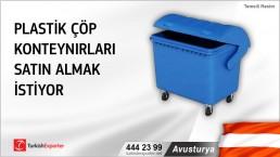 Avusturya, Plastik çöp konteynırları satın almak istiyor