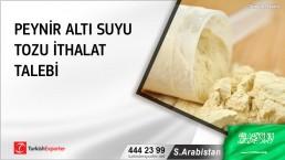 S.Arabistan, Peynir altı suyu tozu ithalat talebi