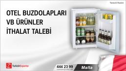 Malta, Otel buzdolapları vb ürünler ithalat talebi