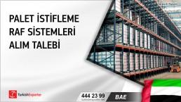 BAE, Palet istifleme raf sistemleri alım talebi