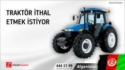 Afganistan, Traktör ithal etmek istiyor