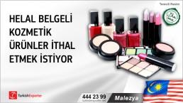 Malezya, Helal belgeli kozmetik ürünler ithal etmek istiyor