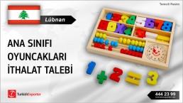 Lübnan, Ana sınıfı oyuncakları ithalat talebi