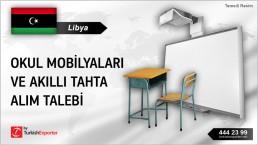 Libya, Okul mobilyaları ve akıllı tahta alım talebi