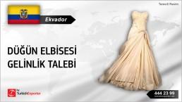 Ekvador, Düğün elbisesi gelinlik talebi