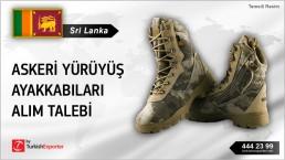 Sri Lanka, Askeri yürüyüş ayakkabıları alım talebi