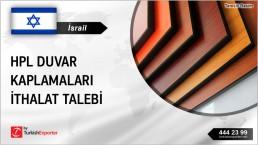 İsrail, HPL duvar kaplamaları ithalat talebi