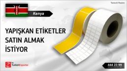 Kenya, Yapışkan etiketler satın almak istiyor