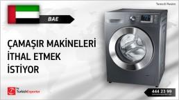 BAE, Çamaşır makineleri ithal etmek istiyor