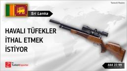 Sri Lanka, Havalı tüfekler ithal etmek istiyor