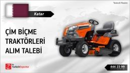Katar, Çim biçme traktörleri alım talebi