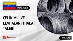 Venezuela, Çelik mil ve levhalar ithalat talebi