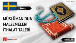 İsveç, Müslüman dua malzemeleri ithalat talebi