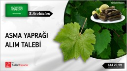 Suudi Arabistan, Asma yaprağı alım talebi