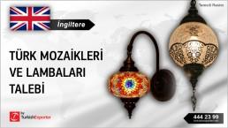 İngiltere, Türk mozaikleri ve lambaları talebi