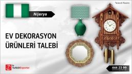 Nijerya, Ev dekorasyon ürünleri talebi