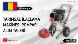 Romanya, Tarımsal ilaçlama makinesi pompası alım talebi
