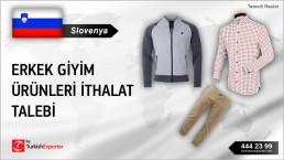 Slovenya, Erkek giyim ürünleri ithalat talebi