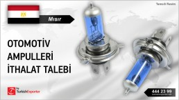 Mısır, Otomotiv ampulleri ithalat talebi