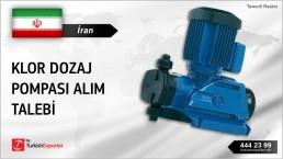 İran, Klor dozaj pompası alım talebi