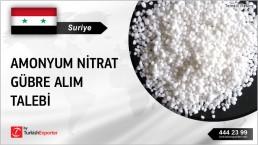 Suriye, Amonyum nitrat gübre alım talebi