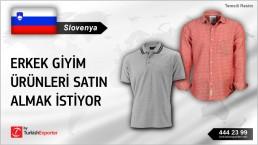 Erkek giyim ürünleri satın almak istiyor – Slovenya