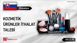 Slovakya, Kozmetik ürünler ithalat talebi