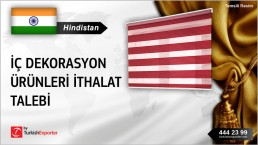 Hindistan, İç dekorasyon ürünleri ithalat talebi