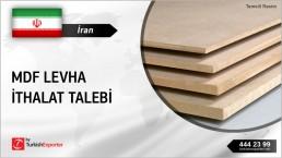 İran, MDF levha ithalat talebi