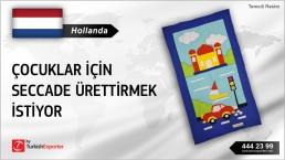Hollanda, Çocuklar için seccade ürettirmek istiyor