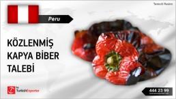 ROASTED RED PEPPER INQUIRY FROM PERU