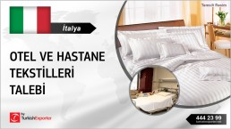 HOTEL TEXTILES, HOSPITAL TEXTILES REQUEST FROM ITALY