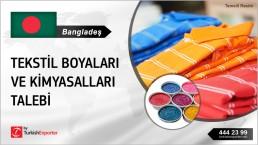 TEXTILE DYES, TEXTILE AUXILIARIES TO EXPORT TO BANGLADESH
